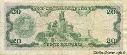 20 Bolivares VENEZUELA  1989 P.063b TTB