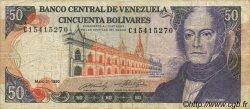 50 Bolivares VENEZUELA  1990 P.065c TB