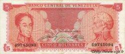 5 Bolivares VENEZUELA  1989 P.070 TTB