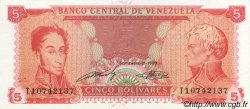 5 Bolivares VENEZUELA  1989 P.070 SUP+