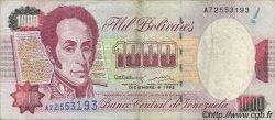 1000 Bolivares VENEZUELA  1992 P.073c TTB