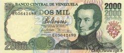 2000 Bolivares VENEZUELA  1998 P.077b NEUF