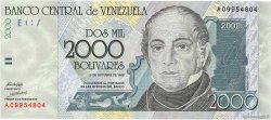 2000 Bolivares VENEZUELA  1998 P.080 NEUF