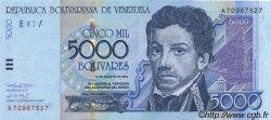 5000 Bolivares VENEZUELA  2002 P.084b NEUF