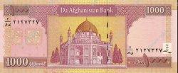 1000 Afghanis AFGHANISTAN  2002 P.072 NEUF