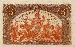 5 Francs BELGIQUE  1919 P.074b pr.SUP
