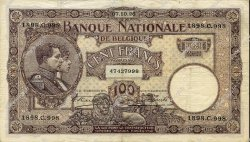 100 Francs BELGIQUE  1926 P.095 TTB