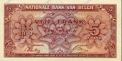 5 Francs - 1 Belga BELGIQUE  1943 P.121 SPL
