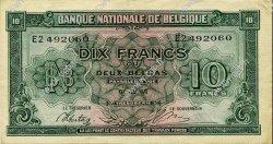 10 Francs - 2 Belgas BELGIQUE  1943 P.122 SUP