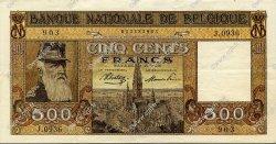 500 Francs BELGIQUE  1945 P.127 SUP