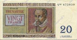 20 Francs BELGIQUE  1956 P.132 SUP