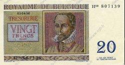 20 Francs BELGIQUE  1956 P.132 SPL