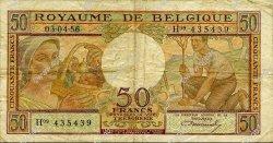 50 Francs BELGIQUE  1956 P.133b TB