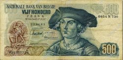 500 Francs BELGIQUE  1963 P.135a pr.TTB
