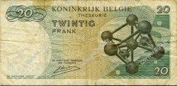 20 Francs BELGIQUE  1964 P.138 TB