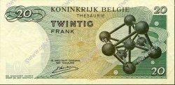 20 Francs BELGIQUE  1964 P.138 TTB à SUP
