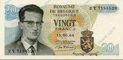 20 Francs BELGIQUE  1964 P.138 SPL