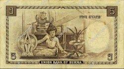 5 Rupees BIRMANIE  1948 P.35 TTB