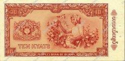 10 Kyats BIRMANIE  1965 P.54 SPL