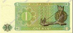 1 Kyat BIRMANIE  1972 P.56 NEUF