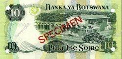 10 Pula BOTSWANA  1976 P.04s NEUF