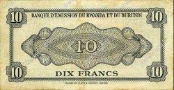 10 Francs BURUNDI  1960 P.02 SUP