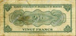 20 Francs BURUNDI  1960 P.03 TB