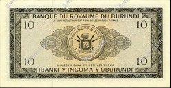 10 Francs BURUNDI  1965 P.09 NEUF