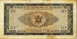 10 Francs BURUNDI  1965 P.09 TB+