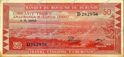 50 Francs BURUNDI  1965 P.11a SUP+