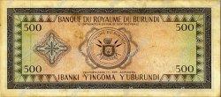 500 Francs BURUNDI  1964 P.13 pr.SUP