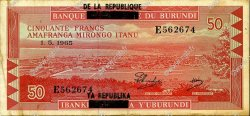 50 Francs BURUNDI  1965 P.16a TTB
