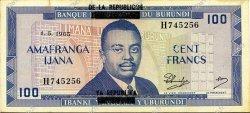 100 Francs BURUNDI  1965 P.17a SPL