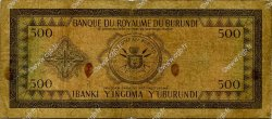 500 Francs BURUNDI  1966 P.18 B+