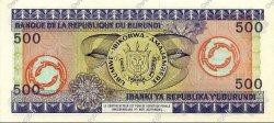 500 Francs BURUNDI  1980 P.34b NEUF