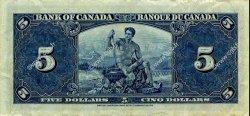 5 Dollars CANADA  1937 P.060b TTB+