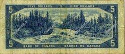 5 Dollars CANADA  1954 P.078 TB