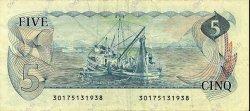 5 Dollars CANADA  1979 P.092a TTB