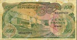 100 Francs CONGO  1963 P.01a TB
