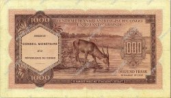 1000 Francs CONGO  1962 P.02a TTB