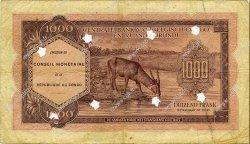 1000 Francs CONGO  1962 P.02a TB