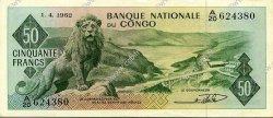 50 Francs CONGO  1962 P.05a SUP+