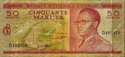 50 Makuta CONGO (RÉPUBLIQUE)  1967 P.011a TB