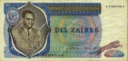 10 Zaïres CONGO (RÉPUBLIQUE)  1971 P.015a pr.TTB