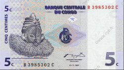 5 Centimes CONGO  1997 P.81a NEUF