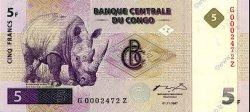5 Francs CONGO (RÉPUBLIQUE)  1997 P.086A pr.NEUF