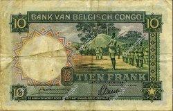 10 Francs CONGO BELGE  1941 P.14 TB