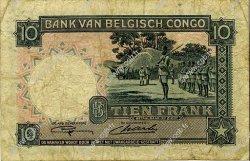 10 Francs CONGO BELGE  1948 P.14E TB