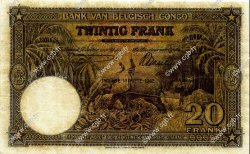 20 Francs CONGO BELGE  1942 P.15A B