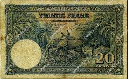 20 Francs CONGO BELGE  1950 P.15H pr.TB